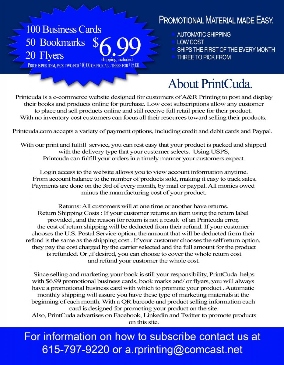Want to Sell Your Books Online?   Printcuda