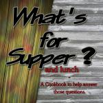 What's for Supper Cookbook, with recipes for the whole family to enjoy. From appetizers, beverages, breads, chicken, fish, meats to cookies and candy, this cookbook has something for the whole family